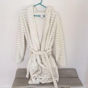 Fuzzy hooded robe